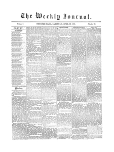 Chicopee Weekly Journal, April 26, 1856