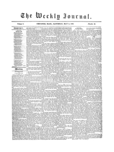 Chicopee Weekly Journal, May 3, 1856
