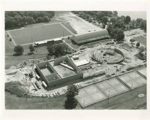 Aerial View of Physical Education Complex Under Construction