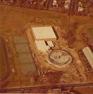 Aerial Snapshot of Physical Education Under Construction