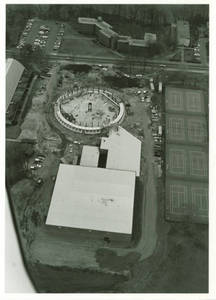 Aerial View of Construction of Physical Education Complex