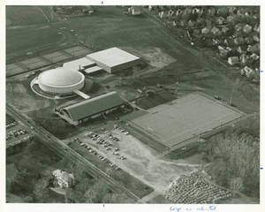 Aerial View of Physical Education Complex - Exterior