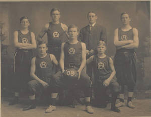 1907-1908 Oliver Ames High School Basketball Team