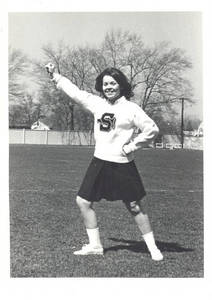 Sally Strait, Springfield College Cheerleader (Class of 1970)