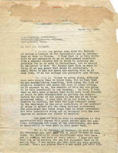 Letter from Dr. James Naismith to Dr. Laurence Locke Dockett, 1918