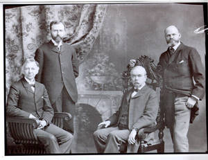 First four Presidents of Springfield College: Laurence L. Doggett, David Allen Reed, Charles Henry Barrows, and Henry S. Lee