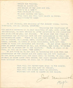 Basketball Letter From Dr. James Naismith, 1894