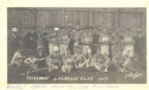 Ernest Best and the Peterboro Lacrosse Club postcard