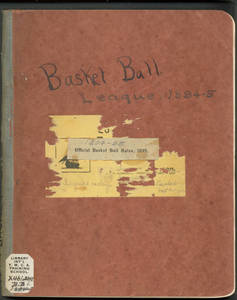 Official Scorebook for the Basketball League at Springfield College, 1894-1895