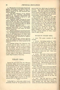 Volley Ball, an article from Physical Education, 1896