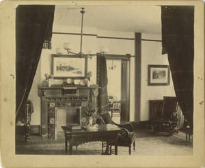 Parlor in the School for Christian Workers Building c. 1887