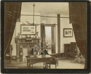 Parlor in the School for Christian Workers Building, c. 1887