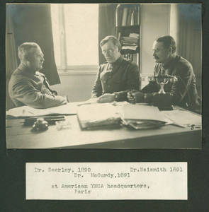 Frank Seerley, James McCurdy, and James Naismith in France, World War I