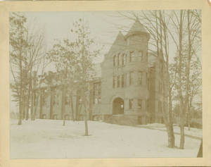 East Gymnasium in the winter