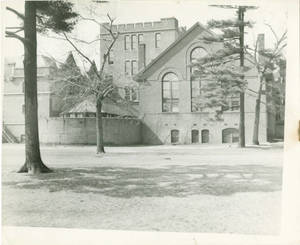 The back of Judd Gymnasia, c. 1943