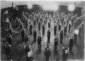 Calisthenic Drill in West Gymnasium, c. 1914