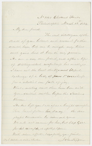 John Tappan letter to the family of Edward Hitchcock, 1864 March 10