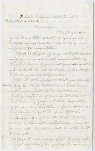 Benjamin Silliman letter to Edward Hitchcock, 1855 November 13