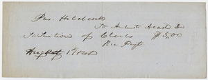 Edward Hitchcock receipt of payment to Amherst Academy, 1848