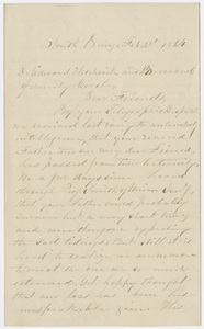 Daniel Greene Sprague letter to Edward Hitchcock, Jr., 1864 February 28