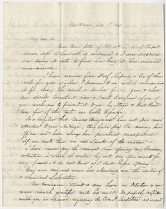 Benjamin Silliman, Jr. and Benjamin Silliman letter to Edward Hitchcock, 1840 December 7