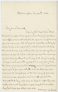 I.? Clark letter to the family of Edward Hitchcock, 1864 March 1