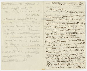 Edward Hitchcock letter to Orra White Hitchcock, 1857 March 13