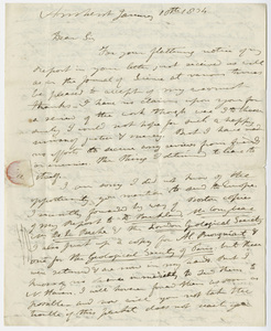 Edward Hitchcock letter to Benjamin Silliman, 1834 January 10