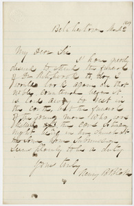 Henry B. Blake letter to William Augustus Stearns?, 1864 March 2