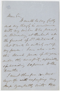 William Baron Calhoun letter to William Augustus Stearns, 1864 February 29