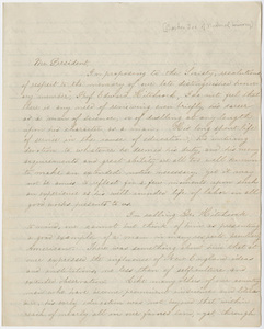 Boston Society of Natural History letter to William Augustus Stearns, 1864