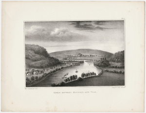 "Orra White Hitchcock plate, ""Gorge between Holyoke and Tom,"" 1841"