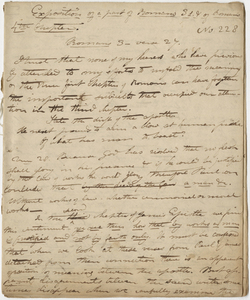"""Edward Hitchcock sermon no. 228, """"Exposition of a part of Romans 3rd & of Romans 4th Chapter,"""" 1824 December"""