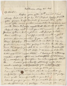 Benjamin Silliman letter to Edward Hitchcock, 1841 May 25