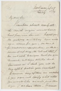 Benjamin Silliman, Jr. letter to Edward Hitchcock, 1854 July 29