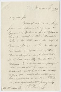 Benjamin Silliman, Jr. letter to Edward Hitchcock, 1850 June 22