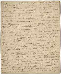 """Edward Hitchcock sermon no. 235, """"Exposition of the First Chapter of Ephesians,"""" 1824 April"""