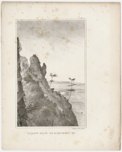 "Plate, ""Pulpit Rock on Monument Mt,"" 1841"