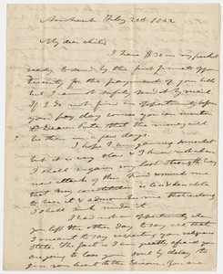 Edward Hitchcock and Orra White Hitchcock letter to Mary Hitchcock, 1842 February 21