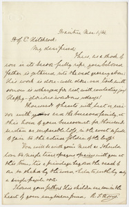 Richard Salter Storrs letter to Edward Hitchcock, Jr., 1864 March 1