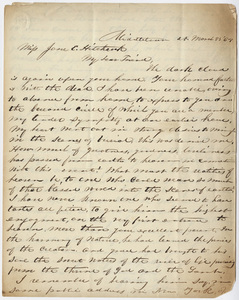 Letter from unidentified correspondent to Jane Hitchcock Putnam, 1864 March 25