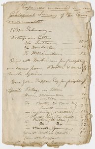 Edward Hitchcock geological survey account booklet, 1831 February to 1831 June 8