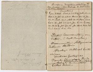 Edward Hitchcock geological survey notebook, 1834 to 1835