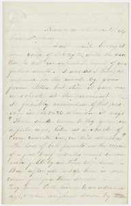 Bela White letter to Edward Hitchcock, Jr., 1864 March 19