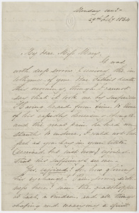 Sarah Tuckerman letter to Mary Hitchcock, 1864 February 29