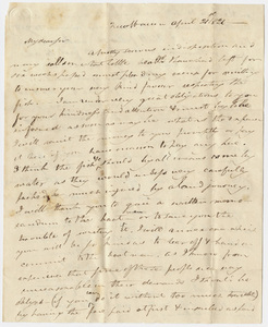 Benjamin Silliman letter to Edward Hitchcock, 1821 April 21