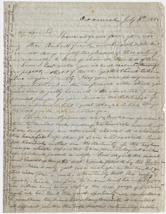 Justin Perkins letter to Edward Hitchcock, 1845 July 8