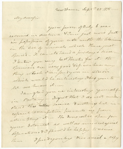 Benjamin Silliman letter to Edward Hitchcock, 1818 September 25