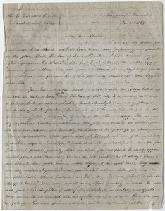 Benjamin Schneider letter to Edward Hitchcock, 1848 November 20