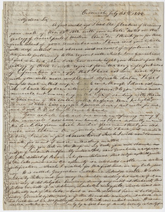 Justin Perkins letter to Edward Hitchcock, 1844 July 25